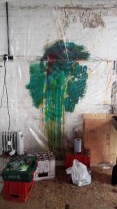 Work in progress 20 March 2015 - acrylic paint skin making -Weedon Studio - Linda Sgoluppi  (10)