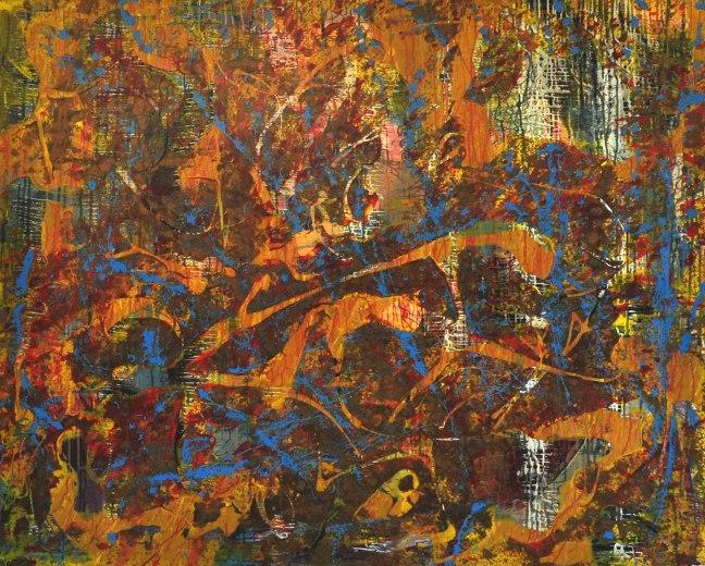 (22) States of Listening #3 -Acrylic on canvas - 122 x 153 cm (49 x 60 inches approx) Linda Sgoluppi