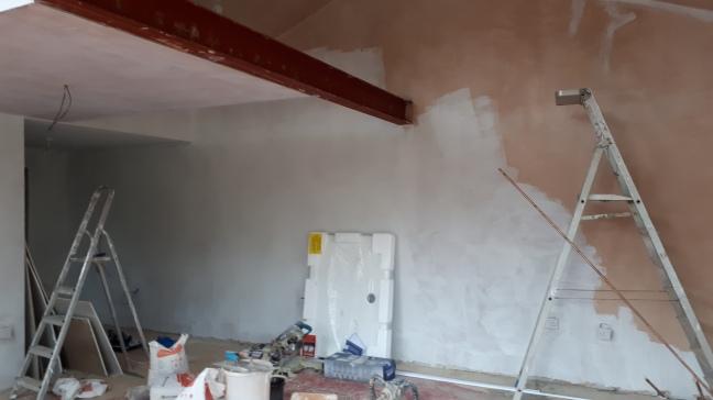 Ghost coating the walls of the new studio. Image copy - Linda Sgoluppi