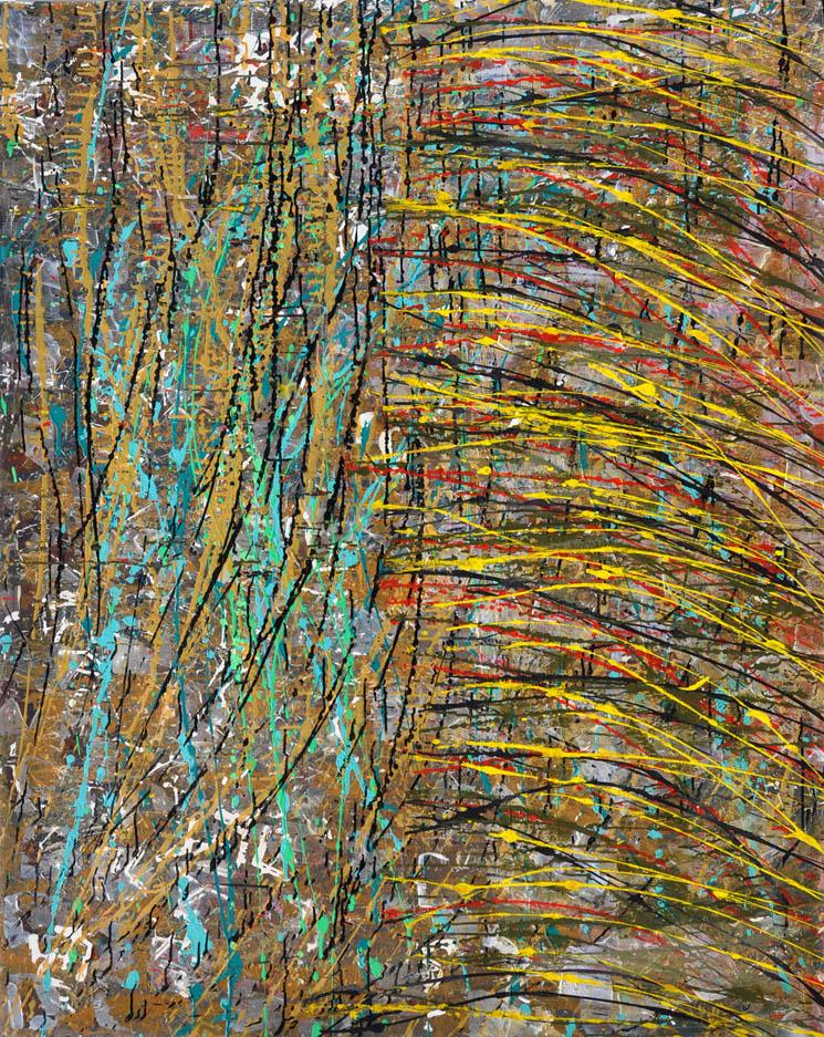 Stratum #1 Acrylic on canvas 150 x 120cm Linda Sgoluppi