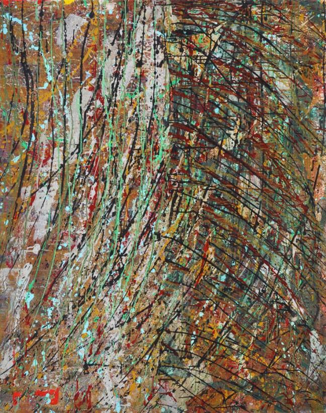 Stratum #2 Acrylic on canvas 150 x 120cm Linda Sgoluppi