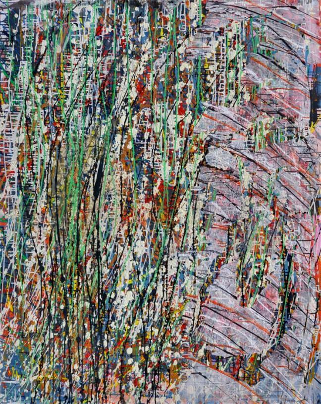 Stratum #4 Acrylic on canvas - 150x120cm Linda Sgoluppi
